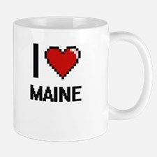 I Love Maine Digital Design Mugs