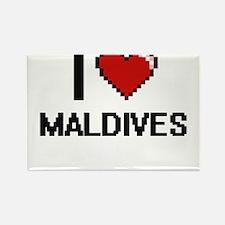 I Love Maldives Digital Design Magnets