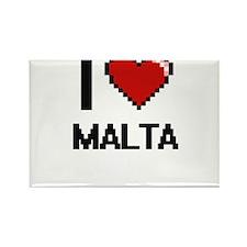 I Love Malta Digital Design Magnets