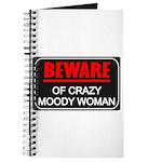 Scott Designs Beware of Crazy Women Journal