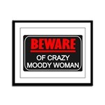 Scott Designs Beware of Crazy Women Framed Panel P