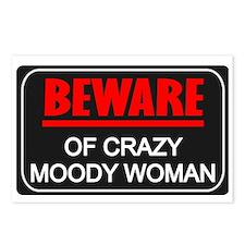 Scott Designs Beware of Crazy Women Postcards (Pac