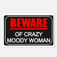Scott Designs Beware of Crazy Women Postcards (Pac
