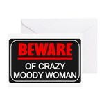 Scott Designs Beware of Crazy Women Greeting Cards