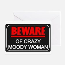 Scott Designs Beware of Crazy Women Greeting Card