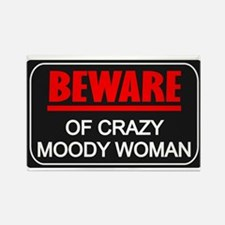 Scott Designs Beware of Crazy Women Rectangle Magn