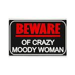 Scott Designs Beware of Crazy Women Rectangle Magn