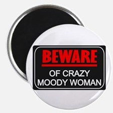 "Scott Designs Beware of Crazy Women 2.25"" Magnet ("