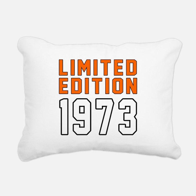 Limited Edition 1973 Rectangular Canvas Pillow