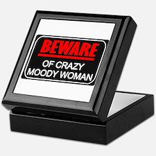 Scott Designs Beware of Crazy Women Keepsake Box