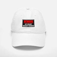 Scott Designs Beware of Crazy Women Baseball Baseball Cap