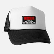 Scott Designs Beware of Crazy Women Trucker Hat