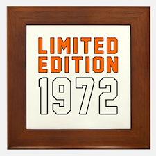 Limited Edition 1972 Framed Tile