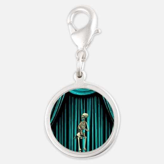 Singing in the Shower Blue Silver Round Charm