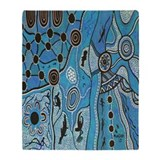 Aboriginal australia art mundara shower water bath Blankets