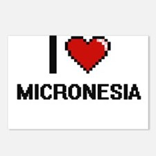 I Love Micronesia Digital Postcards (Package of 8)