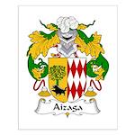Aizaga Family Crest Small Poster