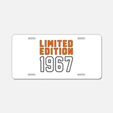 Limited Edition 1967 Aluminum License Plate