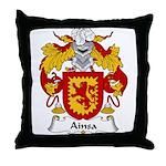 Ainsa Family Crest Throw Pillow
