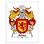 Ainsa Family Crest Small Poster