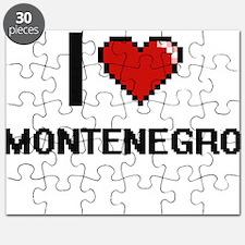 I Love Montenegro Digital Design Puzzle
