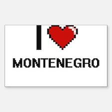 I Love Montenegro Digital Design Decal