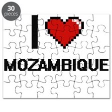 I Love Mozambique Digital Design Puzzle