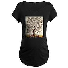 Klimt tree of life Maternity T-Shirt