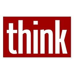 Think (red bumper sticker)