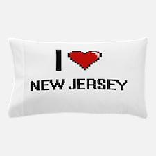I Love New Jersey Digital Design Pillow Case