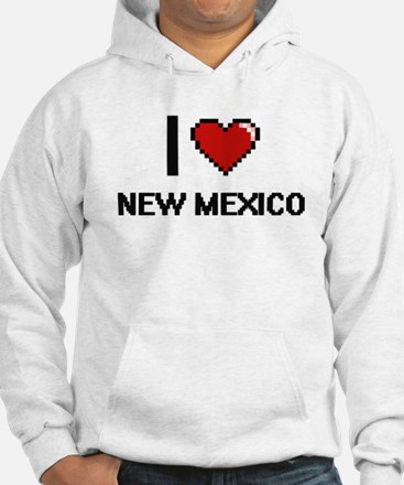I Love New Mexico Digital Design Hoodie
