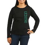Lesotho Women's Long Sleeve Dark T-Shirt
