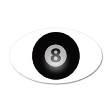 Billiards Eight Ball 35x21 Oval Wall Decal