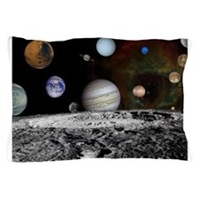 Solar System Montage of Voyager Images Pillow Case