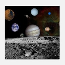 Solar System Montage of Voyager Images Tile Coaste