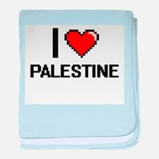 I Love Palestine Digital Design baby blanket