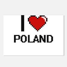 I Love Poland Digital Des Postcards (Package of 8)