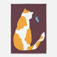 pinto bean kitty 5'x7'Area Rug
