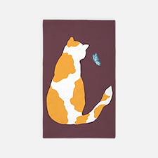 pinto bean kitty Area Rug