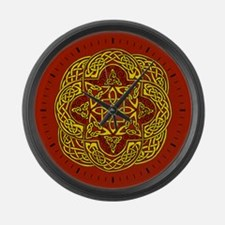Celtic Rococo Red Large Wall Clock