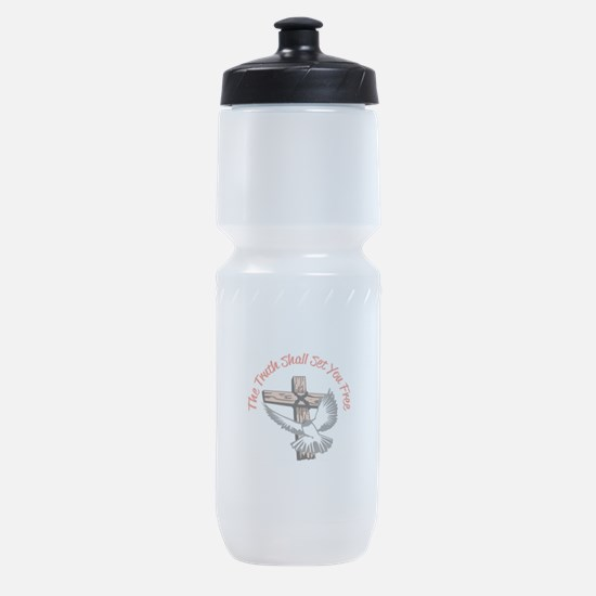 TRUTH SHALL SET YOU FREE Sports Bottle