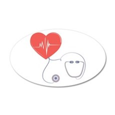 Heart Stethoscope Wall Decal