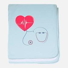 Heart Stethoscope baby blanket