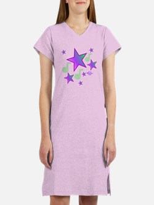 Starlight Lullaby Purple Stars Women's Nightsh