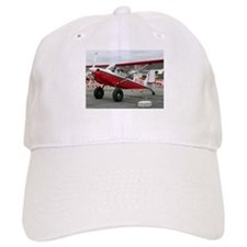 Aircraft (red,black & white) at Lake Hood, Ala Baseball Cap