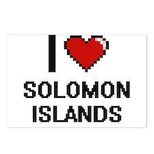 I Love Solomon Islands Di Postcards (Package of 8)