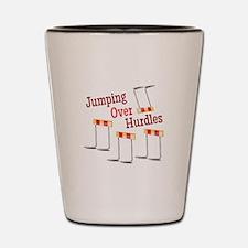 Jumping Hurdles Shot Glass