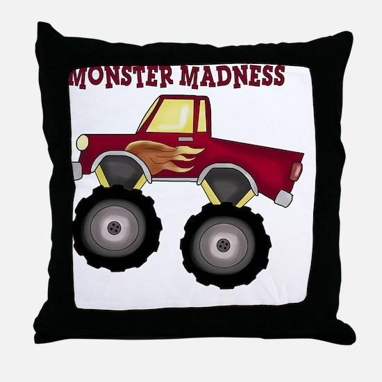 Monster Truck Madness Throw Pillow