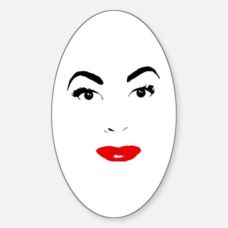 Cute Joan Sticker (Oval)