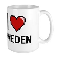 I Love Sweden Digital Design Mugs